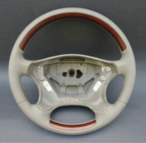 2001 2007 Mercedes W203 Steering Wheel Leather Wood Oyster Laurel New Germany Mp