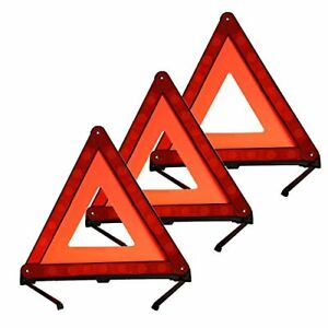 3pcs Reflective Warning Triangle Emergency Car Roadside Safety For Auto Truck