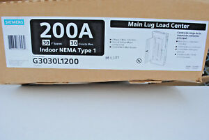 Siemens 200 amp 1 ph 120 240v 3 wire Main Lug Load Center 30 circuits Indoor New
