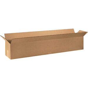 48 x10 x10 Long Corrugated Boxes 200 Lb Test ect 32 Kraft 20 Pack Lot Of 20