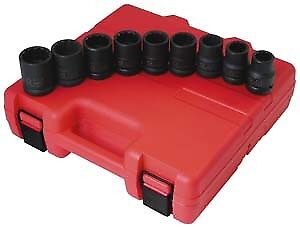 Sunex 4687 9 Piece 3 4 Drive Standard 12 Point Impact Socket Set