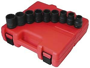 Sunex 4687 9 Piece 3 4 Drive Standard 12 Point Impact Socket Set Brand New