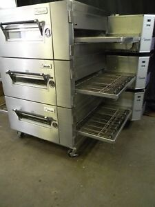 Lincoln Impinger Conveyor Triple Stack Pizza Gas Oven 1600 we Offer Financing