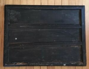 Vintage Printer S Letterpress Type Tray Divided 3 Sections Shadow Box Antique