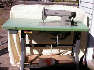 Juki Ddl 5550 Industrial Sewing Machine With Table And Motor Upholstery Canvas