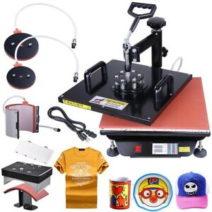 15x15 Digital Heat Press Machine 5in1 T shirt Hat Plate Swing Away Sublimation