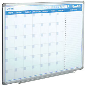 48 w X 36 h Magnetic Dry Erase Calendar Board Lot Of 1