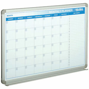36 w X 24 h Magnetic Dry Erase Calendar Board Lot Of 1