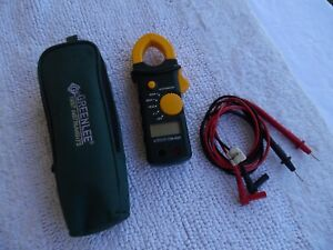 Greenlee Cm 600 Ac 600a Clamp on Multi Meter With Lead Wires Case