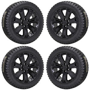 22 Silverado Sierra 1500 Truck Black Wheels Rims Tires Factory Oem Ck156 5661