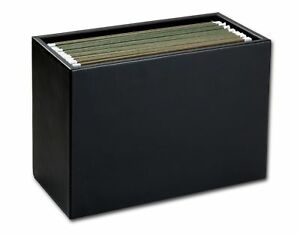 A1093 classic black leather hanging file folder box