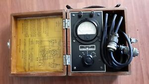 Vintage Ww2 Military Marion Tester Milliamperes Usa Ts 11 ap Wood Box