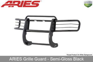 1998 2000 Ford Ranger Grille Brush Guard Front 1 Piece Aries Black Semi Gloss