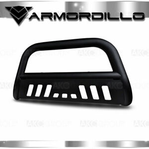 Fits 2007 2014 Chevy Tahoe 1500 3 Bull Bar Matte Black Bull Guard W skid Plate