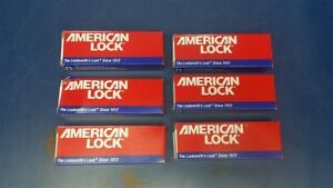 Lot Of 6 American Lock a1107red Keyed Lockout Red Safety Padlock 1 Key