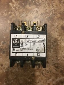 General Electric Contactor 30amp 3ph 208 240 V Coil
