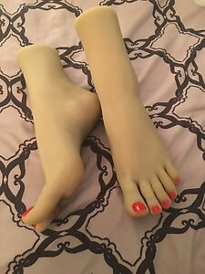 New Womens Girls Dancer Feet Silicone Mannequin Foot Model Long Toes High Arch