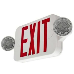 Exit Sign Emergency Led Light Combo Red Compact High Output Comborjr