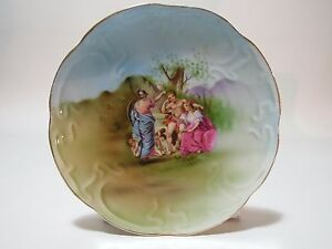 Antique Imperial Moscow Russian Porcelain Plate By M C Kuznetsov