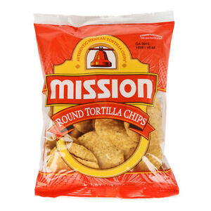 Mission Foods Yellow Round Tortilla Chips 3 Ounce 48 Pack