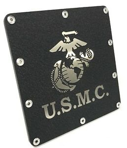 Tow Hitch Cover W Usmc Marines Globe Emblem Stainless Steel 2 Trailer Plug
