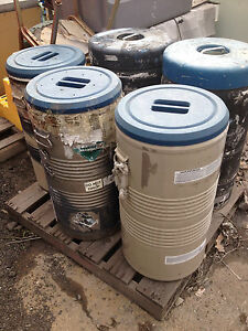 s h Quote Lot Of 5 Chemical Barrels Taylor Wharton Lr 40 Cryogenic