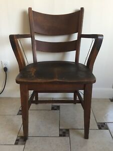 Rare Antique Heywood Wakefield Wood Desk Chair
