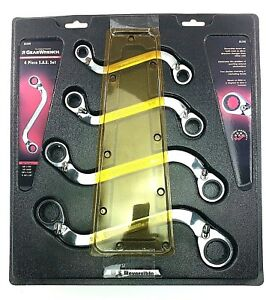 Gearwrench 85399 4 Piece Reversible S shaped Double Box Ratcheting Wrench Set