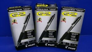 Lot Of 36 Pilot G2 7 Fine Rolling Ball Pen Premium Gel Roller 31020 Black