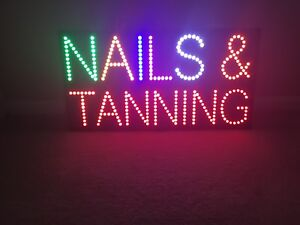 Nails And Tanning Led Sign