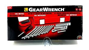 Gearwrench 81024 61 Pc Drive 6 point Sae metric Tool Set 1 Pack