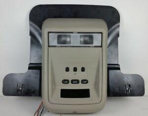 05 11 Ford Crown Victoria Mercury Grand Marquis Overhead Console W Homelink Tan