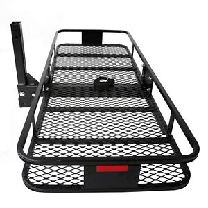 60 x 25 Folding Cargo Luggage Carrier Basket Rack Truck Suv 2 Receiver Hitch
