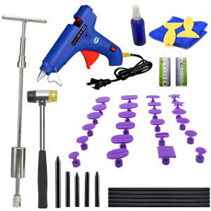 Dent Puller Slide Hammer Paintless Repair Tools Car Auto Removal Pdr Glue Kit Us