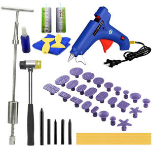 Us Kit Dent Puller Slide Hammer Car Auto Removal Paintless Repair Tools Glue Pdr