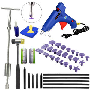 Pdr Tools Car Body Dent Repair Paintless Puller Slide Hammer Glue Gun Set Us Kit