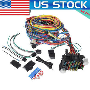 Universal 21 Circuit Wiring Harness For Chevy Mopar Ford Hotrods