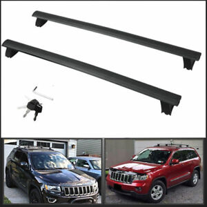 11 18 Oem Type Black Roof Rack Cross Bar Pair W key Lock Fit Jeep Grand Cherokee