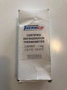 Thermco Accr0201s Certified Refrigerator Thermometer spirit 0 5 C Divisions