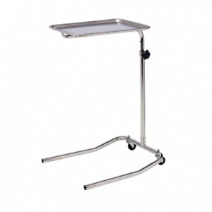 Clinton Single Post Stainless Steel Mayo Instrument Stand M23