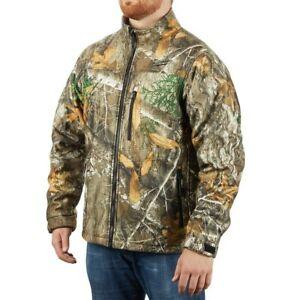 Milwaukee M12 Heated Jacket 12 volt Battery Camo Hunting Quiet Warm Men s 2xl