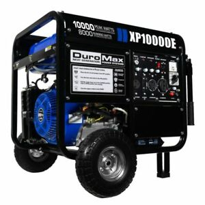 Duromax 10000 Watt 18hp Portable Gas Electric Start Generator free Shipping