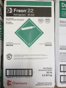 Refrigerant R22 Freon Sealed 30 Lbs Made In The Usa Fast Free Shipping