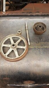 Vintage 9 South Bend Lathe 9 Inch Lathe Countershaft And Flat Blelt Pulley Set