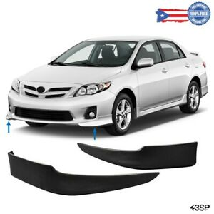 Fit For 2011 2013 Toyota Corolla S Factory Style Body Kit Front Bumper Lips Set