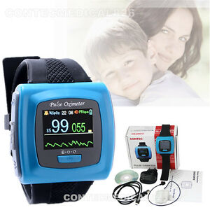 Wearable Pulse Oximeter Spo2 24 Hours Record Sleep Study Heart Rate Monitor usa