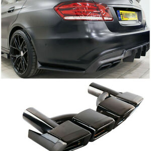 Pair Amg Style Rear Exhaust Muffler Tips For Mercedes Benz W212 W221 W204 09 13