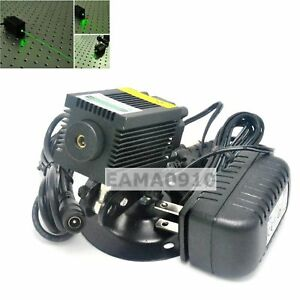 12v 532nm 100mw Green Semiconductor Laser Module W fan Cooling Holder Adapter