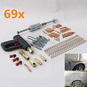69x Auto Body Repair Tool Dent Puller Welder Stud Kit Car Spot Welding Leveling