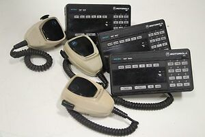 Lot Of 3 Motorola Astro Spectra Hcn1078j 2way Radio Remote Hmn1061a Microphone